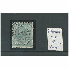 Suriname  10C met ALBINA 1896 VFU/gebr  CV 12+ € Pracht exemplaar!!