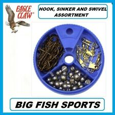 EAGLE CLAW HOOK, SWIVEL AND SINKER ASSORTMENT 75 PIECE #05010H-001 DIAL PACK
