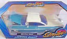 "1959 Chevrolet Impala Blue ""Lowrider Series"" Street Low 1/24 Diecast Model  Jada"