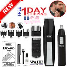 Trimmer beard WAHL Hair Shaver Mustache beard and cordless ear - Clipper Kit New
