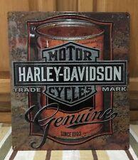 Harley-Davidson Motorcycles Motor Oil Can Metal Bike Helmet Oil Vintage Style 6