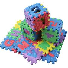 Baby Kids Creativity Crafts Set 36Pcs Soft Foam Numbers & Letters Mats Play Mat