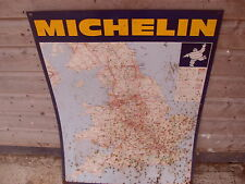 Michelin Tin/Metal Advertising Map From Michelin Map 986 - Rusty - As Photo