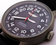 Rare Russian Military Mechanical Wrist (Hand) Watch POLJOT Aviator-24 hours Dial