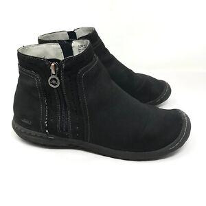 JBU by Jambu Womens Juno Ankle Boots Booties Black Side Zip Memory Foam Size 10