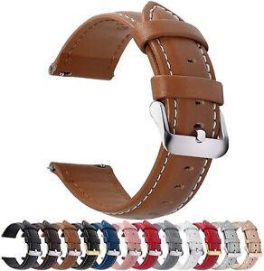 Bracelet Montres Cuir Hommes Femmes Classique Fermoir Métal 18mm 20mm 22mm 24mm