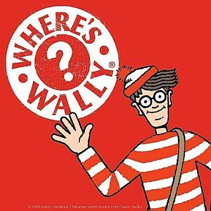 Where's Wally Red and White Single Coaster Licensed Official New