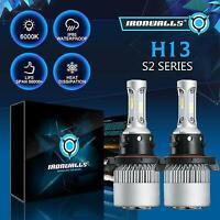 H13 9008 LED Headlight bulbs Hi/Lo Beam 1700W 6500K For Ford F-150 F-250 F-350