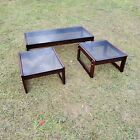 MID CENTURY MODERN PERCIVAL LAFER rosewood coffee end table 3 pieces Brazil MCM