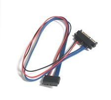 Slimline 13 pin SATA Female to 22 Pin SATA Male Cable Adapter – 20 Inches