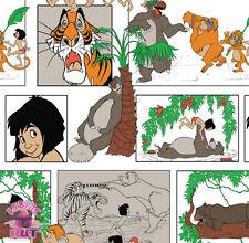 141149409 - Jungle Book Character Block Fabric By the Yard Mowgli Baloo Bagheera