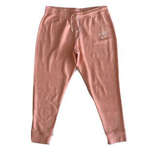 Nike Women's Training Cotton Pants Coral Sz 1XL CI0139-697 Light Tie-Dye N160310