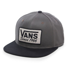 Vans RECTANGLE 66 Mens Hat (NEW) Snapback Cap SINCE 1966 Grey Gray FREE SHIPPING