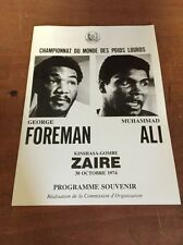 Muhammad Ali George Foreman 1974 Onsite Boxing Program Programme Reproduction
