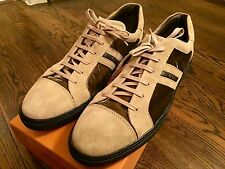 Tod's Suede and Velvet Sneakers size US 12 Made in Italy