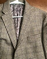 """Joe"" Joseph $395 Abboud 46R Blazer Sport Coat Jacket Gray & Blue Plaid Wool"