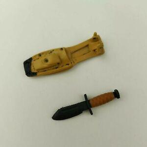 1/6 Scale Combat Knife & Sheath For 12 Inch Figures GI Joe BBI DID 21st Century