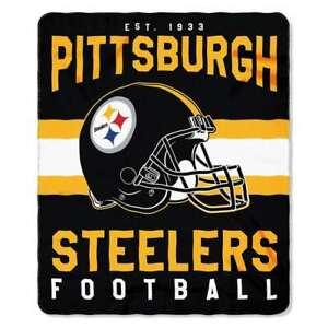 "Pittsburgh Steelers 50"" x 60"" Singular Design Fleece Throw Blanket by Northwest"
