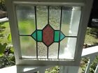 SK-429 Older Leaded Stained Glass Window F/England 19 7/8 X 19   Last One!!