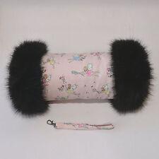 Cath Kidston Garden Fairies Hand Muff with Luxury Black Faux Fur Trim
