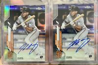 2x TOPPS CHROME KEAN WONG AUTO ROOKIE BASE REFRACTOR LOT GIANTS /499