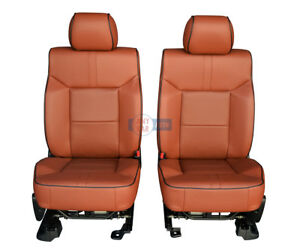 2009 2008 Hummer H2 New Front Seats in Brick Red Leather