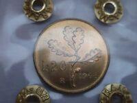 REPUBBLICA ITALIANA 20 LIRE 1968 QUERCIA FDC-RARA -PERIZIATA