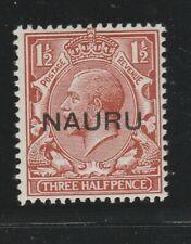 Nauru 1923 1 1/2d Red-Brown Sg 15 Mlh