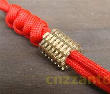 Unique cooling fin shaped brass Parachute Cord Knife Tool Lanyard Bead LB045