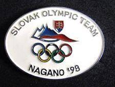 Nagano 1998 SLOVAK Rare Winter Olympic DELEGATION  pin