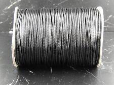 5 mètres en cordon  polyester noir 1,5mm