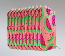 Lot of 10 Clinique Donald Cosmetic Makeup Bag with Watermelon Print