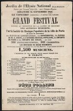 Garten der Elysée-Palast Nationalen. Plakat. großer festival, Fête Fair. 1848