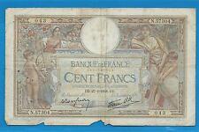 GERTROLEN  Billet 100 FRANCS  Luc Olivier Merson 27-1-1938  N.57304