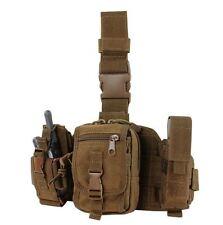 CONDOR MOLLE GP Tactical Utility Drop Leg Rig Pouches ma25-498  COYOTE BROWN