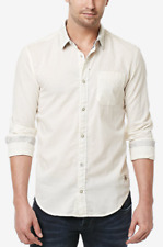 Buffalo David Bitton Men's Slim Fit Cotton Sagus Shirt, Milk, Size L, MSRP $79