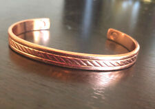 Genuine Copper Magnetic Bracelet Cuff Bangle Style Arthritis Pain Relief Therapy