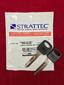 Set of 2: OEM Genuine Ford Uncut Key Blank STRATTEC 597638 011-R0223 S Blade