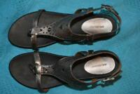 COLORADO Gunmetal Metallic Leather SANDALS Size 10. RRP$129.95 Casual Style NEW