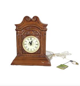 NOS Vintage 60s Lanshire Mid Century Modern MCM Ceramic Electric Mantel Clock
