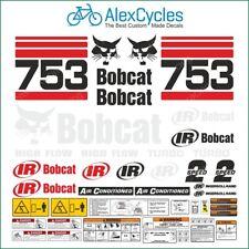 BOBCAT SKID STEER 753 Turbo High Flow Warning Decals Stickers Full Kit