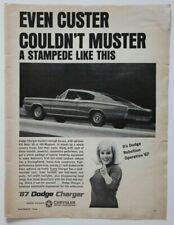 DODGE Charger 1967 magazine advert - English - USA