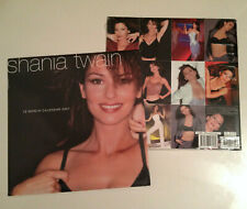 "Lot of 2 BEAUTIFUL Brand New 2001 SHANIA TWAIN 16-Month Wall Calendar 12"" SEALED"