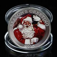 Seasons Greetings Silver Plated Commemorative Coin Merry Christmas Collection