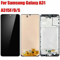 For Samsung galaxy A31 2020 A315 Display LCD Touch Screen  Digitizer Frame Black