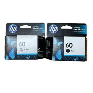 GENUINE NEW HP 60 (CC640WN/CC643WN) Black Color Ink Cartridge 2-Pack EXPIRED
