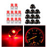 10x T10 LED SMD 194 Bulbs For Instrument Gauge Cluster Dash Light W/ Sockets Top