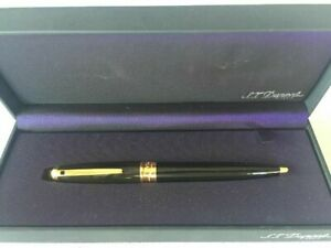 S.T. DUPONT OLYMPIO BLACK LACQUER BALLPOINT PEN.NEW