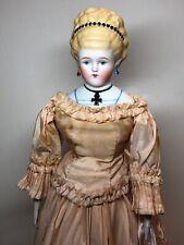 """16"""" Antique Bisque German Alt Beck Gottschaulck China Head Empress Augusta #A"""
