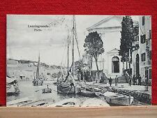 AK - Lussingrande Porto - Veli Losinj - gel. 1906 - Fischerboote + Personen